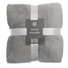 Meira Glitter Blanket Throw - Silver Grey