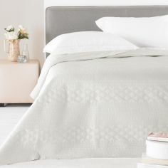 Matt Satin Bedspread - Natural