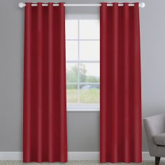Faux Silk Red Made to Measure Curtains