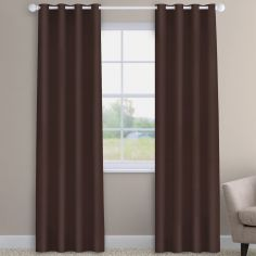 Faux Silk Chocolate Brown Made to Measure Curtains