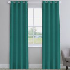 Faux Silk Teal Made to Measure Curtains