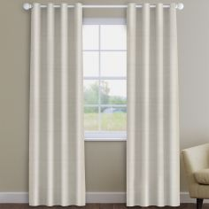 Faux Silk Natural Made to Measure Curtains