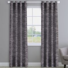 Crushed Velvet Pewter Made to Measure Curtains