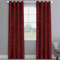 Crushed Velvet Ruby Red Made to Measure Curtains