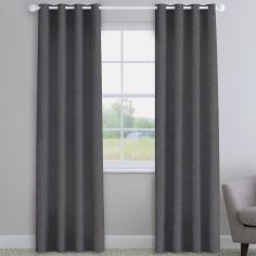 Basketweave Grey Made to Measure Curtains