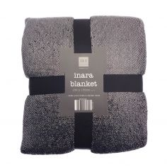 Inara Sparkle Blanket Throw - Black