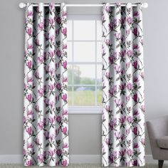 Maya Cerise Made to Measure Curtains