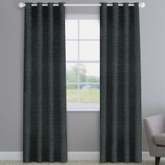 Kent Chenille Charcoal Grey Made to Measure Curtains