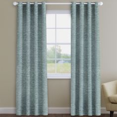 Kent Chenille Duck Egg Blue Made to Measure Curtains