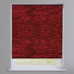 Crushed Velvet Ruby Red Roman Blind