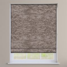 Crushed Velvet Champagne Cream Roman Blind