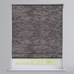 Crushed Velvet Pewter Grey Roman Blind