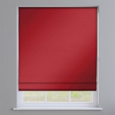 Faux Silk Red Roman Blind