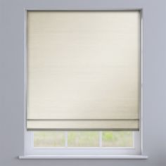 Faux Silk Plain Natural Cream Roman Blind