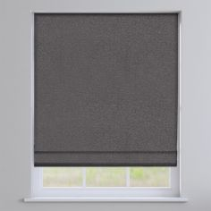 Basketweave Grey Roman Blind
