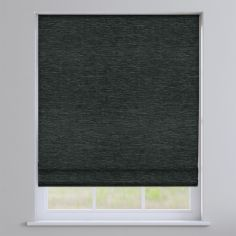 Kent Chenille Charcoal Grey Roman Blind