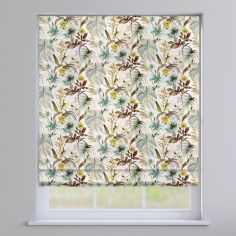 Funchal Floral Duck Egg Blue Roman Blind