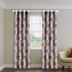 Soho Red Made to Measure Curtains