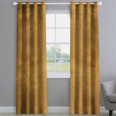 Opulence Velvet Ochre Made to Measure Curtains