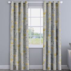 Bergen Grey Modern Floral Made To Measure Curtains