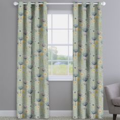 Bergen Seafoam Modern Floral Made To Measure Curtains