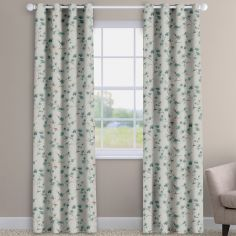 Como Blossom Cornflower Blue Floral Made To Measure Curtains