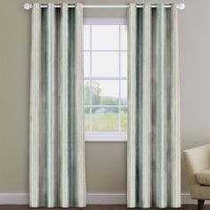 Garda Striped Cornflower Blue Made To Measure Curtains