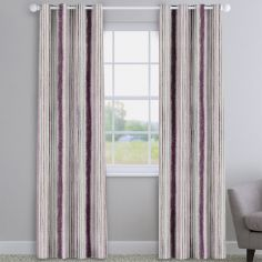 Garda Striped Grape Purple Made To Measure Curtains