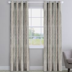 Garda Striped Grey Made To Measure Curtains