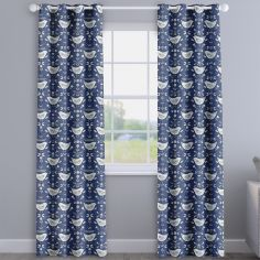 Narvik Scandinavian Birds Blue Made To Measure Curtains