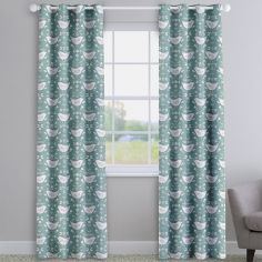 Narvik Scandinavian Birds Seafoam Made To Measure Curtains