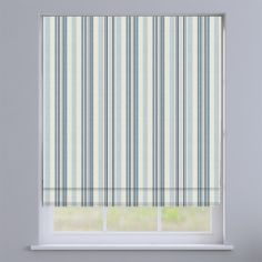 Coastal Stripe Blue Roman Blind