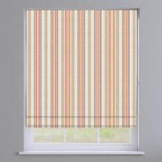 Coastal Stripe Burnt Orange Roman Blind