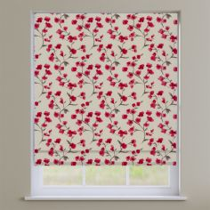Como Blossom Cherry Red Floral Roman Blind