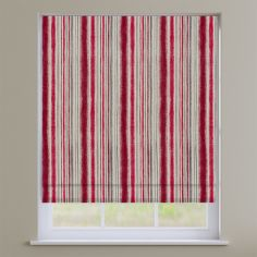 Garda Striped Cherry Red Roman Blind