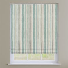 Garda Striped Cornflower Blue Roman Blind