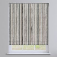 Garda Striped Grey Roman Blind
