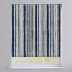 Garda Striped Indigo Blue Roman Blind