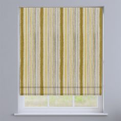 Garda Striped Ochre Yellow Roman Blind