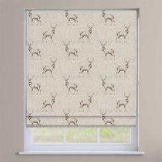 Glencoe Stag Natural Cream Roman Blind