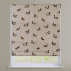 Mallard Ducks Natural Roman Blind