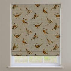 Pheasant Animal Print Natural Cream Roman Blind