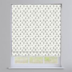 Odense Grey Geometric Roman Blinds