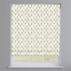 Odense Ochre Yellow Geometric Roman Blinds