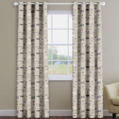 Baa Baa Sheep Charcoal Grey Made To Measure Curtains