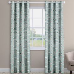 Baa Baa Sheep Duck Egg Blue Made To Measure Curtains