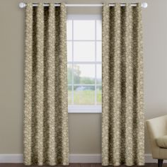 Bird Garden Canvas Brown Delicate Floral Made To Measure Curtains