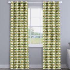 Cluck Cluck Hens Capri Yellow Made To Measure Curtains