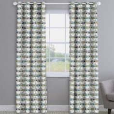 Cluck Cluck Hens Kiwi Green Made To Measure Curtains