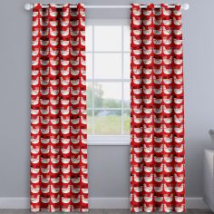 Cluck Cluck Hens Scarlet Red Made To Measure Curtains